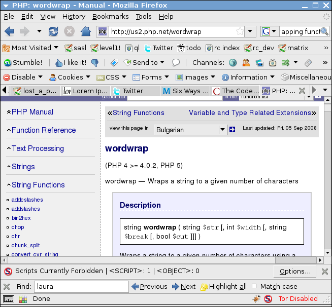 picture of php wordwrap
